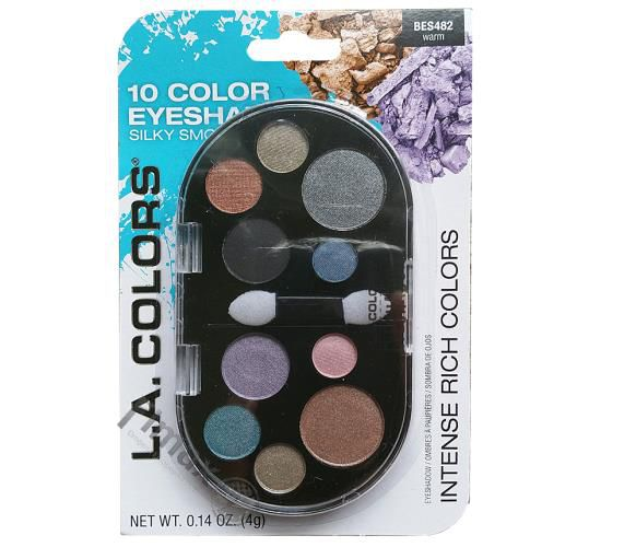 Paletta 10 Color Eyeshodow L.a. Colors BES482