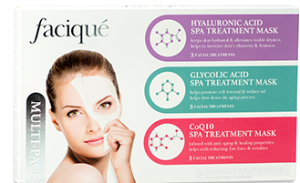 Hyaluronic Acid, Glycolic & CoQ10 Spa Treatment Mask